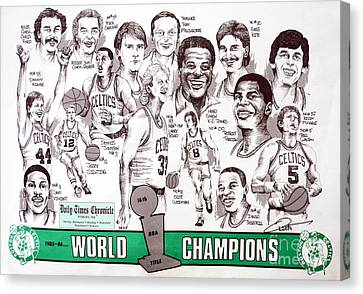 1986 Boston Celtics Championship Newspaper Poster Canvas Print by Dave Olsen