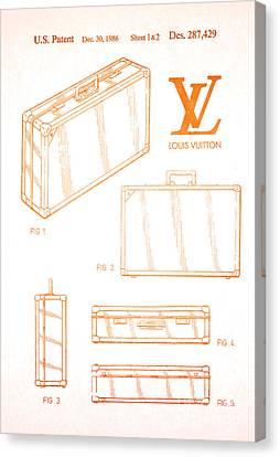 1986 Louis Vuitton Suitcase Patent 2 Canvas Print