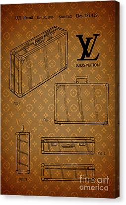 1986 Louis Vuitton Suitcase Patent 3 Canvas Print