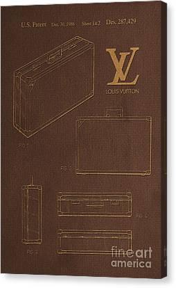 1986 Louis Vuitton Suitcase Patent 4 Canvas Print