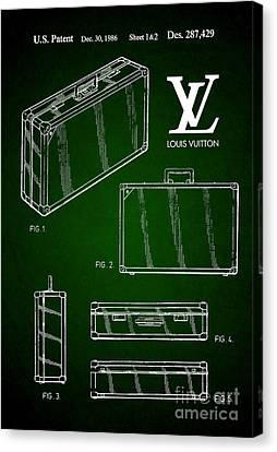 1986 Louis Vuitton Suitcase Patent 5 Canvas Print