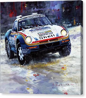 1986 Porsche 959/50 #185 2nd Dakar Rally Raid Ickx, Brasseur Canvas Print