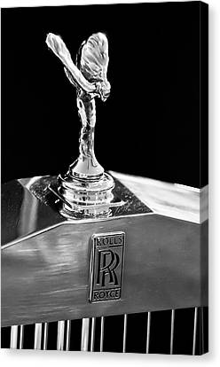 1986 Rolls-royce Hood Ornament 2 Canvas Print by Jill Reger