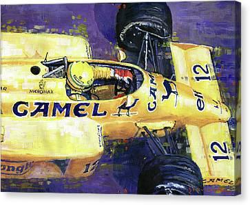 1987 Spa Francorchamps Lotus 99t Ayrton Senna Canvas Print by Yuriy Shevchuk