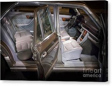1990 Mercedes Sel Interior Canvas Print