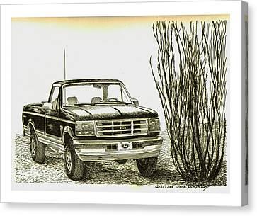 1996 Ford Pick Up Ocatillo  Canvas Print by Jack Pumphrey