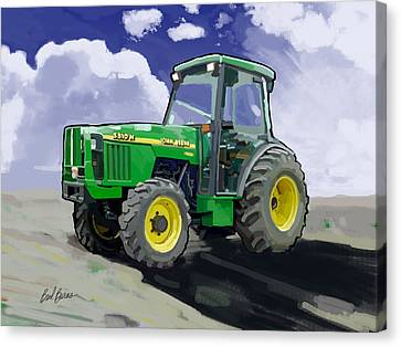 1998 John Deere 5510n Farm Tractor Canvas Print by Brad Burns