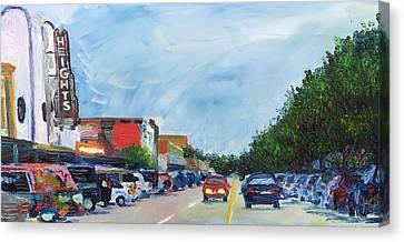19th St Houston Heights Tx Canvas Print by Lauren Luna