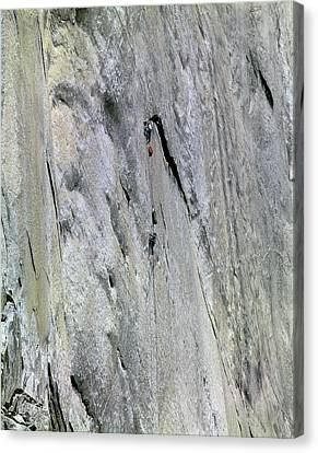 Aquarian Canvas Print - 1m6527 A2 1st Ascent Aquarian Wall by Ed Cooper Photography