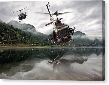 1st Cavalry Assault  Canvas Print by Peter Chilelli