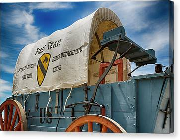 1st Cavalry Division Fort Hood - Horse Detachment Canvas Print by Stephen Stookey
