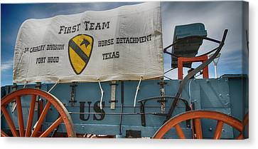 1st Cavalry Division Horse Detachment - Fort Hood Canvas Print by Stephen Stookey