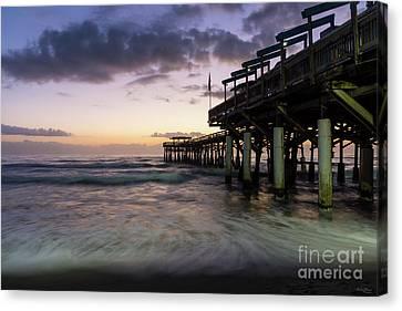 1st Dawn Cocoa Pier Canvas Print