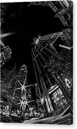 1st January, 2014, Charlotte, Nc, Usa - Nightlife Around Charlot Canvas Print by Alex Grichenko