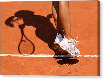 1st Serve Canvas Print by Herve Loire