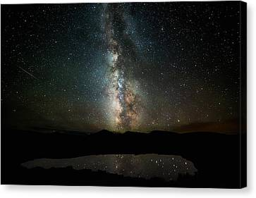 Starry Canvas Print - 2 1/2 Mile High Milky Way by Darren White
