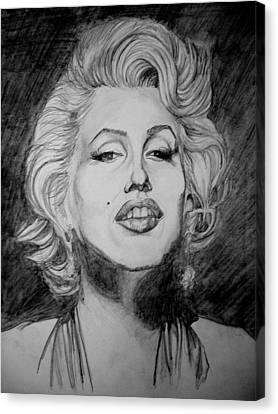 Marylin Monroe Canvas Print by Sean Leonard