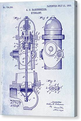 Fire Hydrant Canvas Print - 1903 Fire Hydrant Patent by Jon Neidert
