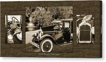 1924 Buick Duchess Antique Vintage Photograph Fine Art Prints 121 Canvas Print by M K  Miller