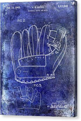 1943 Baseball Glove Patent Canvas Print by Jon Neidert