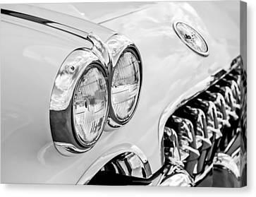 1959 Chevrolet Corvette Grille Canvas Print by Jill Reger