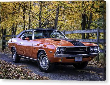 Horsepower Canvas Print - 1970 Dodge Challenger Rt  by Expressive Landscapes Fine Art Photography by Thom