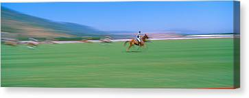 Racquet Canvas Print - 1998 World Polo Championship, Santa by Panoramic Images