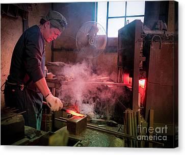 4th Generation Blacksmith, Miki City Japan Canvas Print