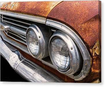 50s Chevrolet Front End Canvas Print by Jim Hughes