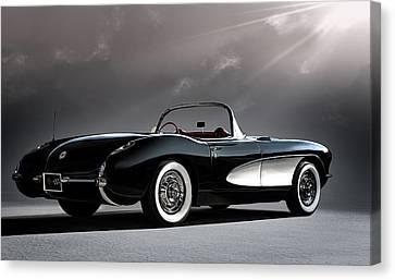 '56 Corvette Convertible Canvas Print by Douglas Pittman