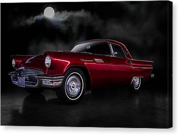 Metalic Canvas Print - '57 T-bird by Douglas Pittman