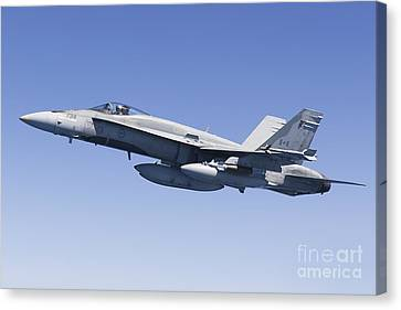 A Cf-188a Hornet Of The Royal Canadian Canvas Print by Gert Kromhout