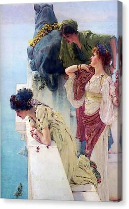Row Boat Canvas Print - A Coign Of Vantage, by Sir Lawrence Alma-Tadema
