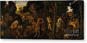 Centaur Canvas Print - A Hunting Scene by Piero di Cosimo