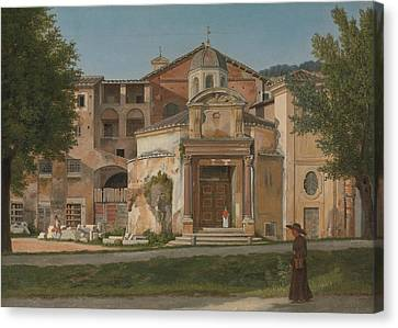 Italian Landscapes Canvas Print - A Section Of The Via Sacra, Rome  by Christoffer Wilhelm Eckersberg