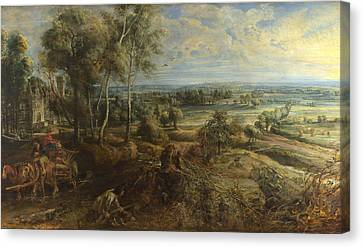 A View Of Het Steen In The Early Morning Canvas Print