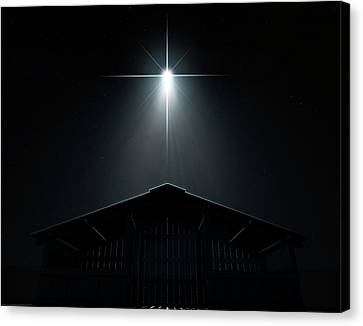 Abstract Nativity Scene Canvas Print