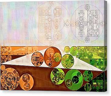 Abstract Painting - Brown Bramble Canvas Print by Vitaliy Gladkiy