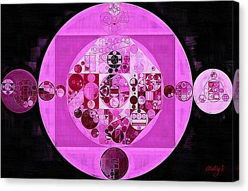 Canvas Print featuring the digital art Abstract Painting - Lavender Magenta by Vitaliy Gladkiy
