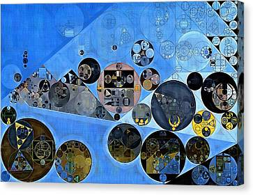 Black Russian Canvas Print - Abstract Painting - Tufts Blue by Vitaliy Gladkiy