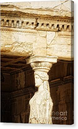 Acropolis Of Athens Canvas Print by HD Connelly