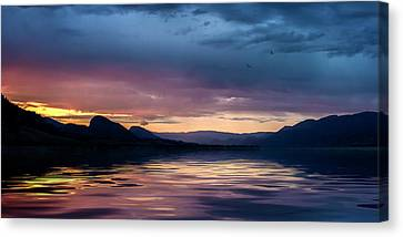 Canvas Print featuring the photograph Across The Clouds I See My Shadow Fly by John Poon