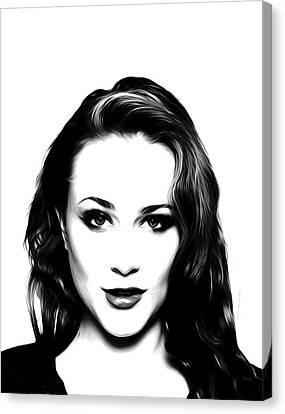 Actress Evan Rachel Wood  Canvas Print