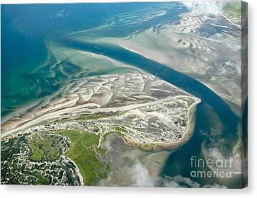 Aerial Vew Of Sandy Neck Beach In Barnstable On Cape Cod Massac Canvas Print