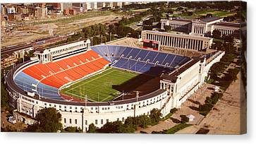 Aerial View Of A Stadium, Soldier Canvas Print by Panoramic Images