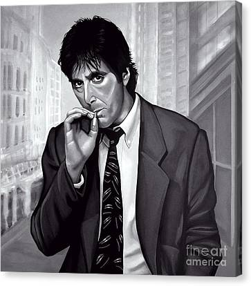 Michael Corleone Canvas Print - Al Pacino  by Meijering Manupix