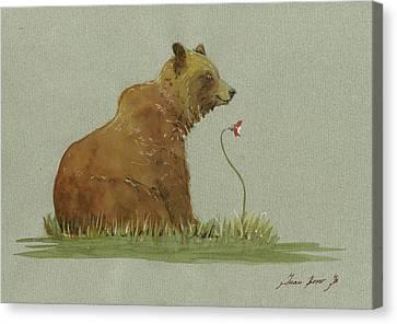 Alaskan Grizzly Bear Canvas Print by Juan Bosco