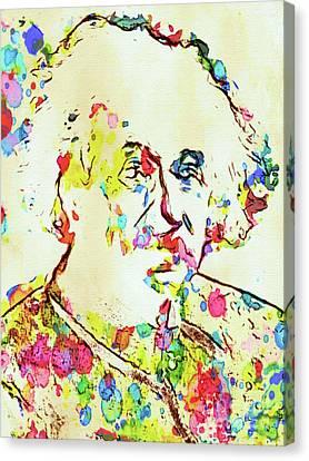 Albert Einstein Famous Scientist Canvas Print