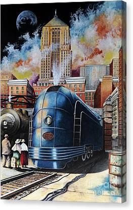 Urban Scenes Canvas Print - All Aboard by David Neace