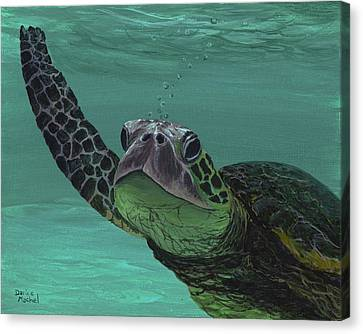 Canvas Print featuring the painting Aloha From Maui by Darice Machel McGuire